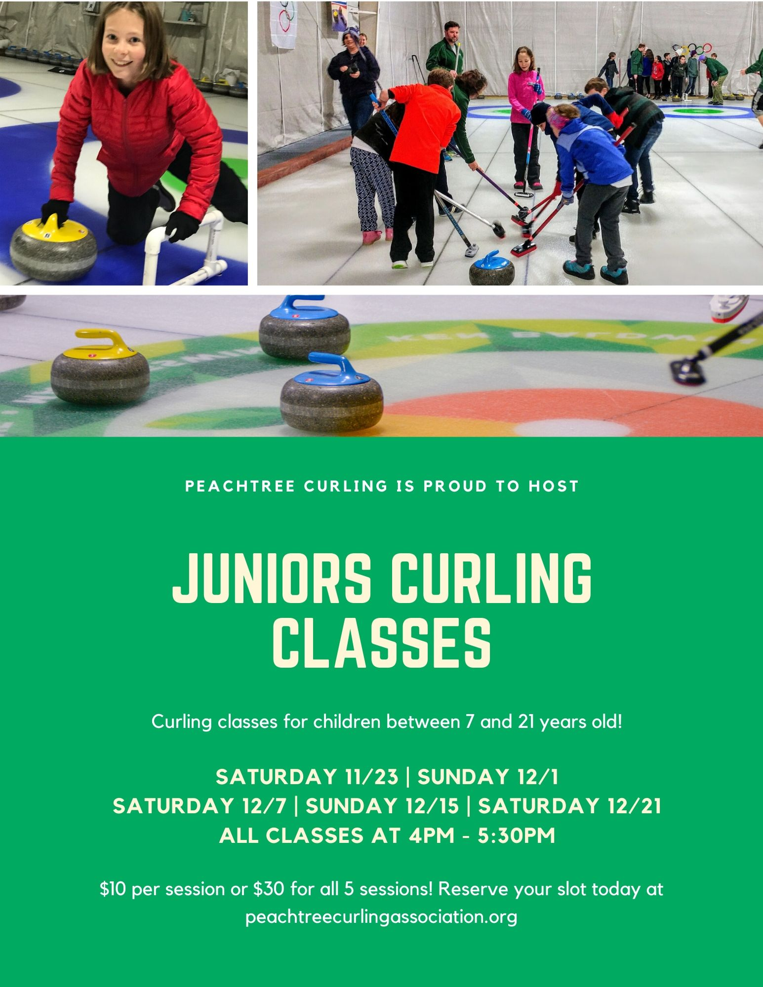 PCA Kids Curling Flyer